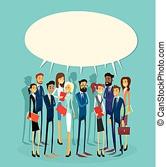 Business People Group Chat Communication Bubble Concept