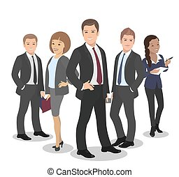 Business People Group Diverse Team Vector Illustration