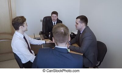 Business people group have meeting in the office.