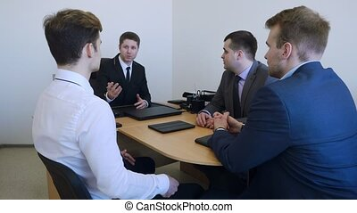 Business people group have meeting in the office. - Young...