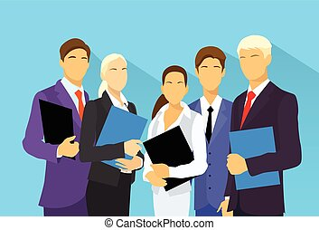 business people group human resources flat vector