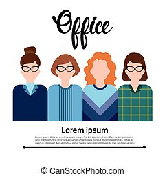Business People Group Icon Set Woman Businesspeople Team Office Worker