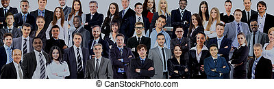 Business people group. Isolated over white background