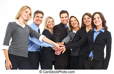 Business people - Group of business people. Isolated over...