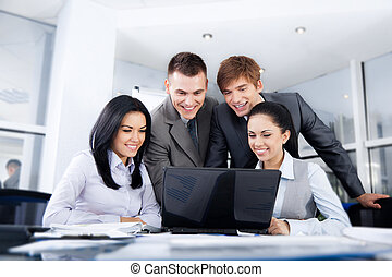 Business people - Group of business people working on...