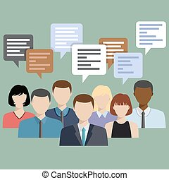 Business people group talking