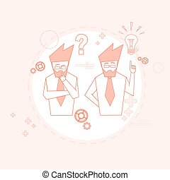Business People Group Team Brainstorm Success Teamwork Cooperation Concept