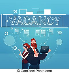 Business People Group Vacancy Search Employee Position Human Resources Recruitment