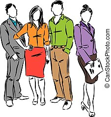 business people group vector illustration