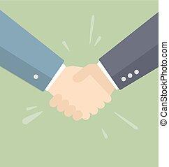 Business people handshake.