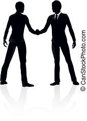 Business people handshake illustrat
