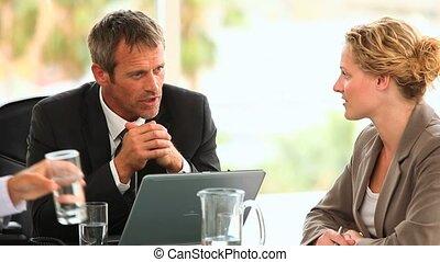 Business people having a conversati