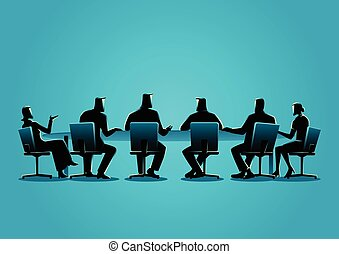 Business people having a meeting - Business concept ...