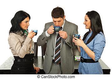 Business people having coffee break