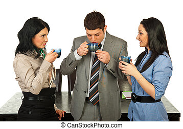 Business people having coffee break