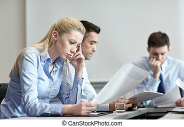 business people having problem in office