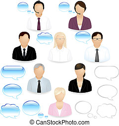 Business People Icons - 8 Vector Business People Icons With...
