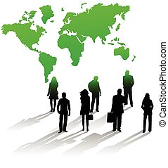 World map smart phone app business people smart phone vector illustration of business people and map gumiabroncs Images