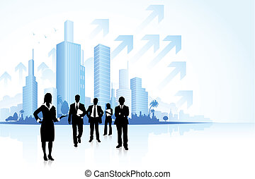 Business People - illustration of business people in...