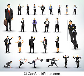 Business People illustrations - Collection of business...
