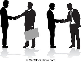 business people signing the deal
