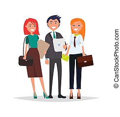 Business People in Formal Wear, Vector Managers - Business...