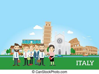 Business people in Italy