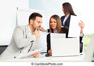 Business people in modern office
