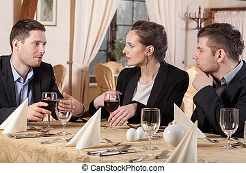 Business people  in restaurant