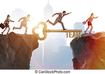 Business people in teamwork concept