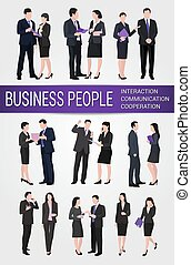 Business people Interaction Cooperation Communication