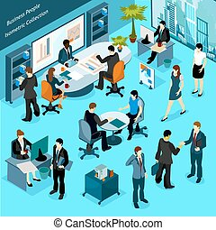 Business People Isometric Collection