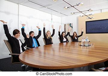 Business People jubilation