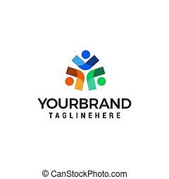 business people logo design concept template vector