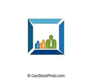 Business people logo design
