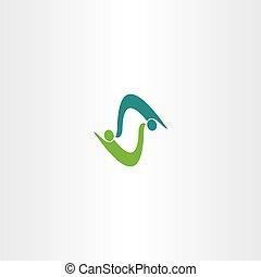 business people logo vector letter s symbol