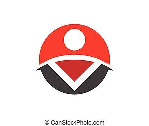Business people logo vector template