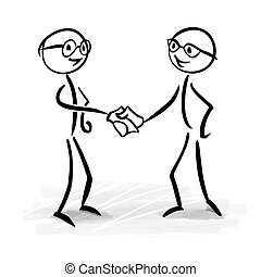 Business people making a deal