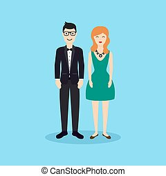 Business people - man and woman - d