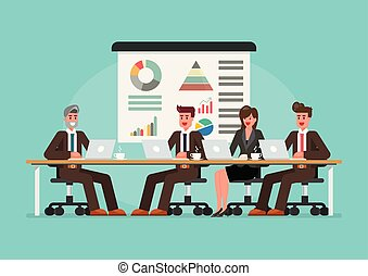 Business people meeting on the table