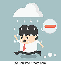 business people negative thinking