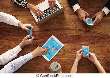 Business people negotiating in meeting