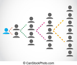 Business people networking vector