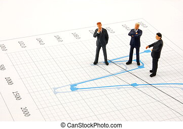 business people on chart background - business peoples on ...