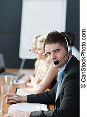 business people on headsets 2