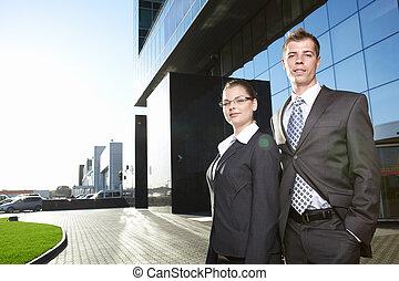 Business people outdoor
