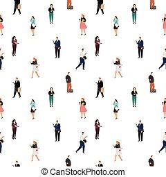 Business people pattern