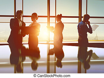 business people - team of successful business people. men...