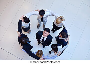 business people group joining hands and stay as team in...