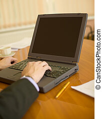 Business people planning on the laptop